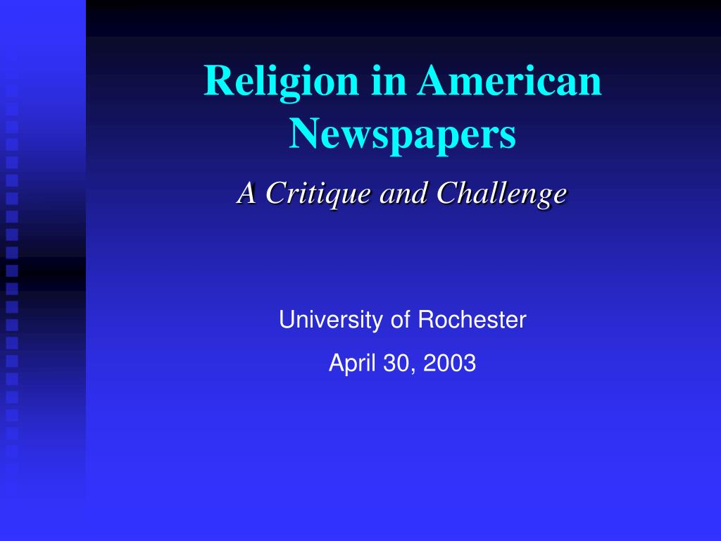 religion in american newspapers l.