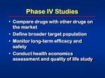 phase iv studies