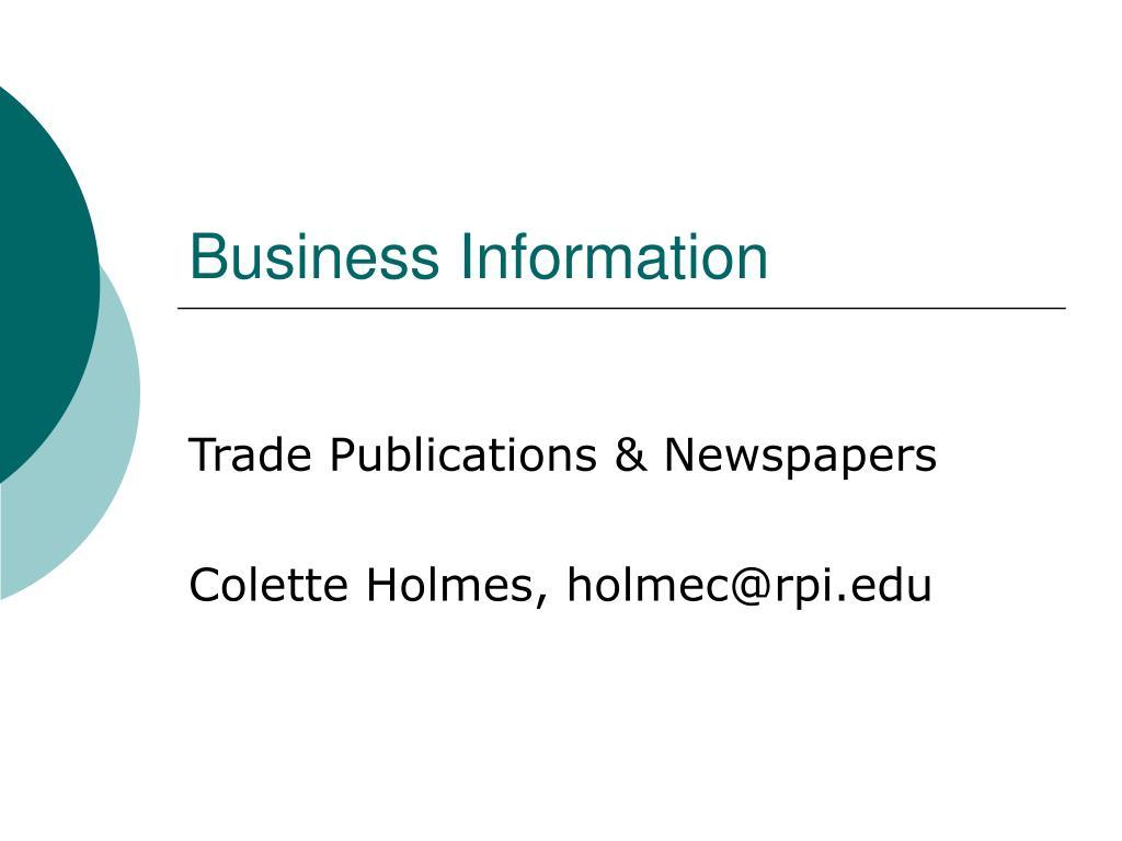 business information l.