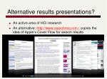 alternative results presentations