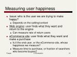 measuring user happiness