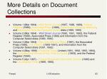 more details on document collections