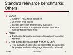 standard relevance benchmarks others