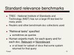 standard relevance benchmarks