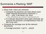 summarize a ranking map