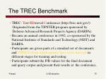 the trec benchmark
