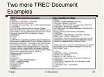 two more trec document examples