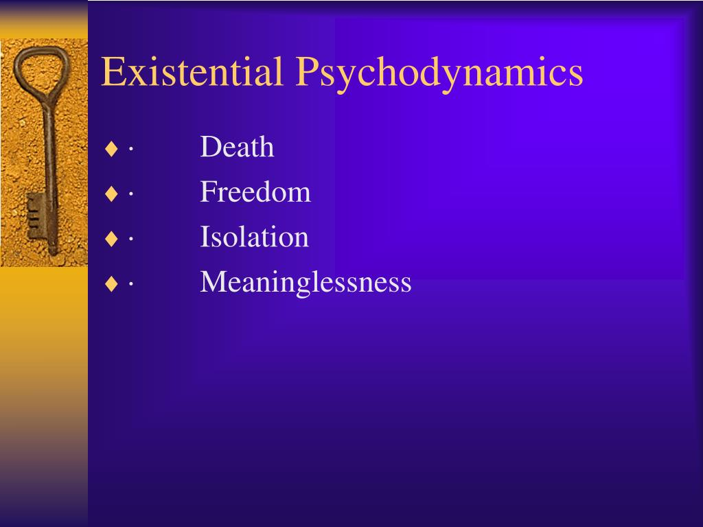 an analysis of principles of existentialism An analysis of existential therapy from a counseling perspective mark oliver university of houston 2 abstract existential theory is derived from the existential szasz, 2005) existential theory provides a counselor with a set of principles and constructs which serve as a guide to the.