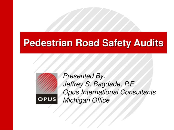 pedestrian road safety audits n.