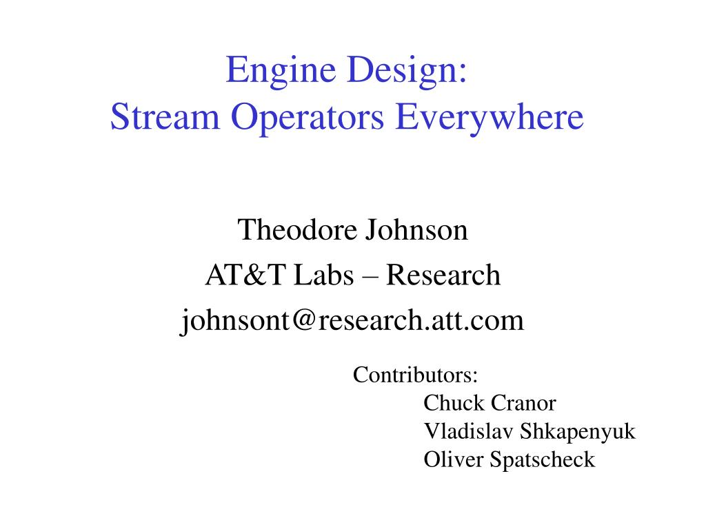 Engine Design: