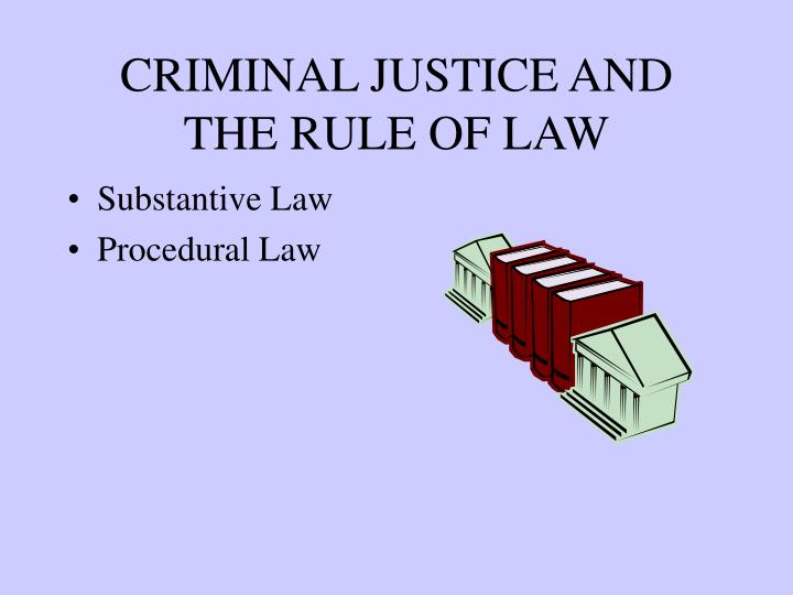 criminal justice and the rule of law n.