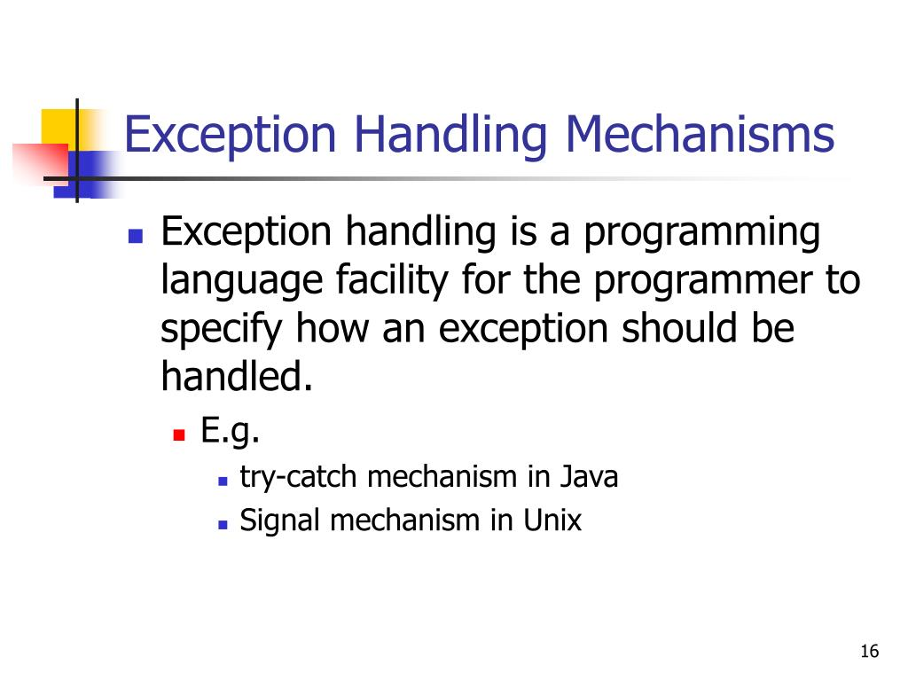 PPT - Exceptions & Exception Handling Mechanisms PowerPoint
