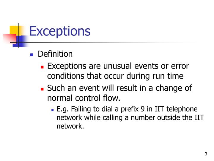 Exceptions3