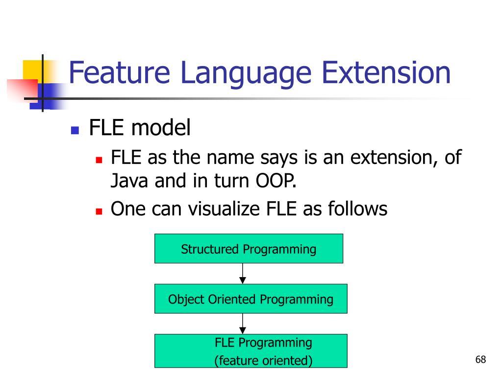 Feature Language Extension