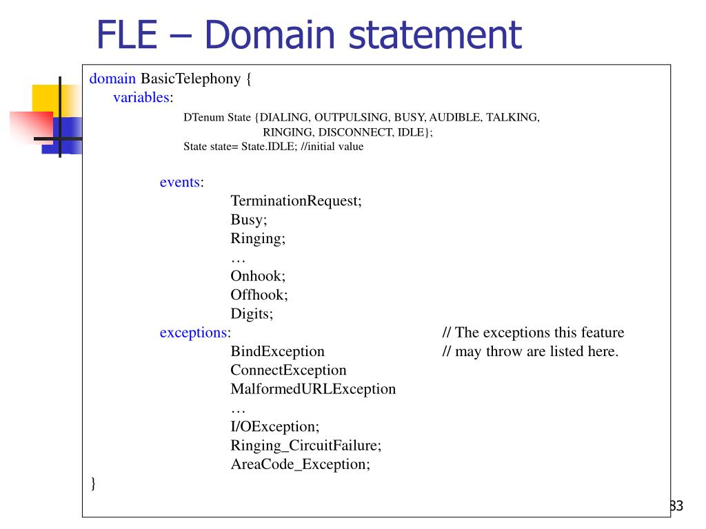 FLE – Domain statement