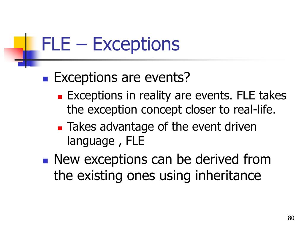 FLE – Exceptions