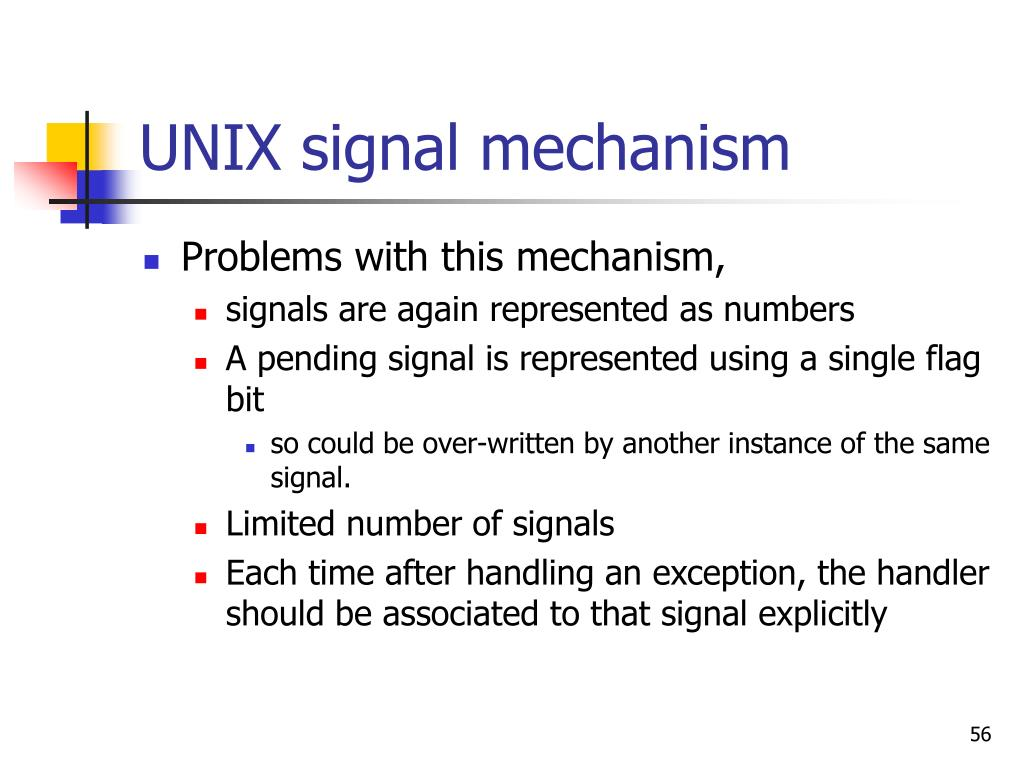 UNIX signal mechanism