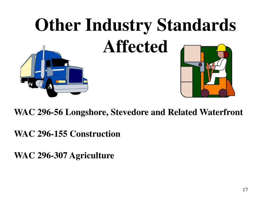 Other Industry Standards Affected