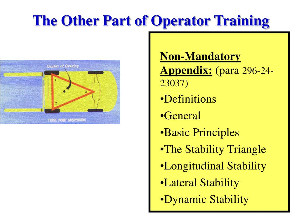 The Other Part of Operator Training