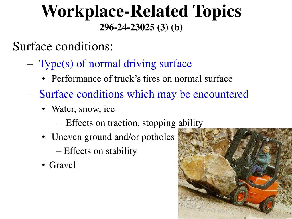 Workplace-Related Topics