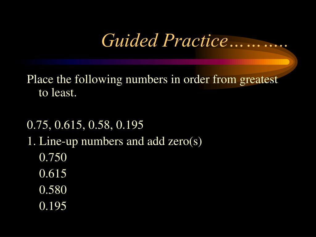 Guided Practice………..