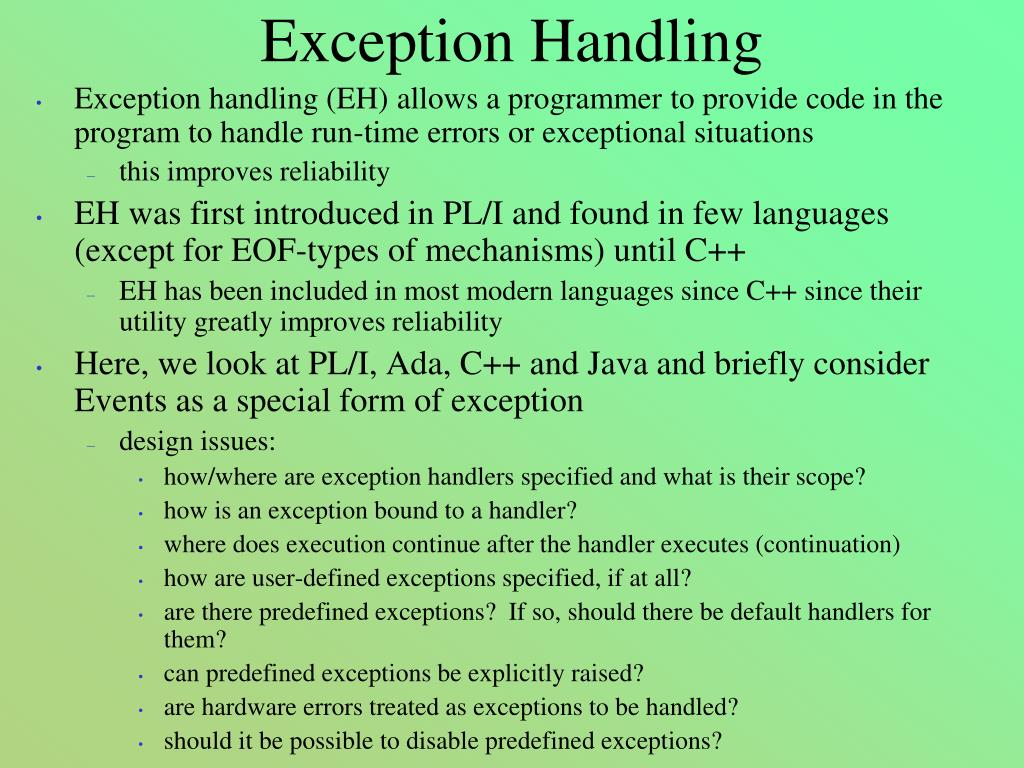 exception handling l.