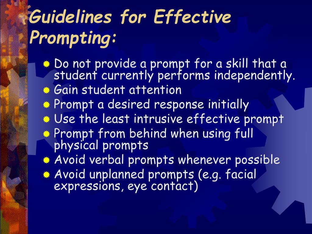 Guidelines for Effective Prompting: