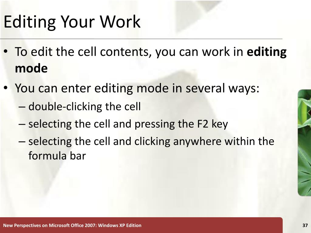 Editing Your Work