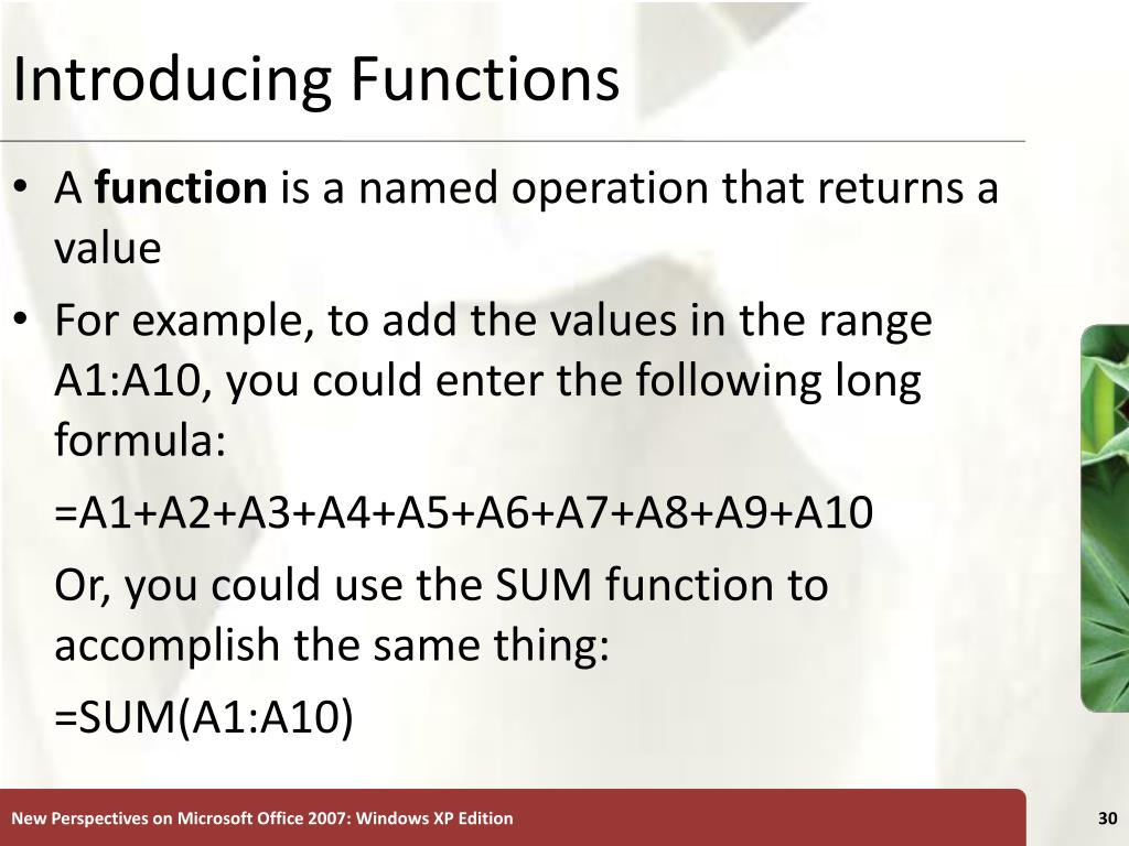 Introducing Functions