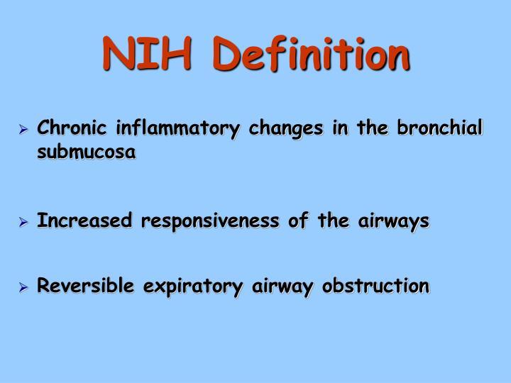 Nih definition
