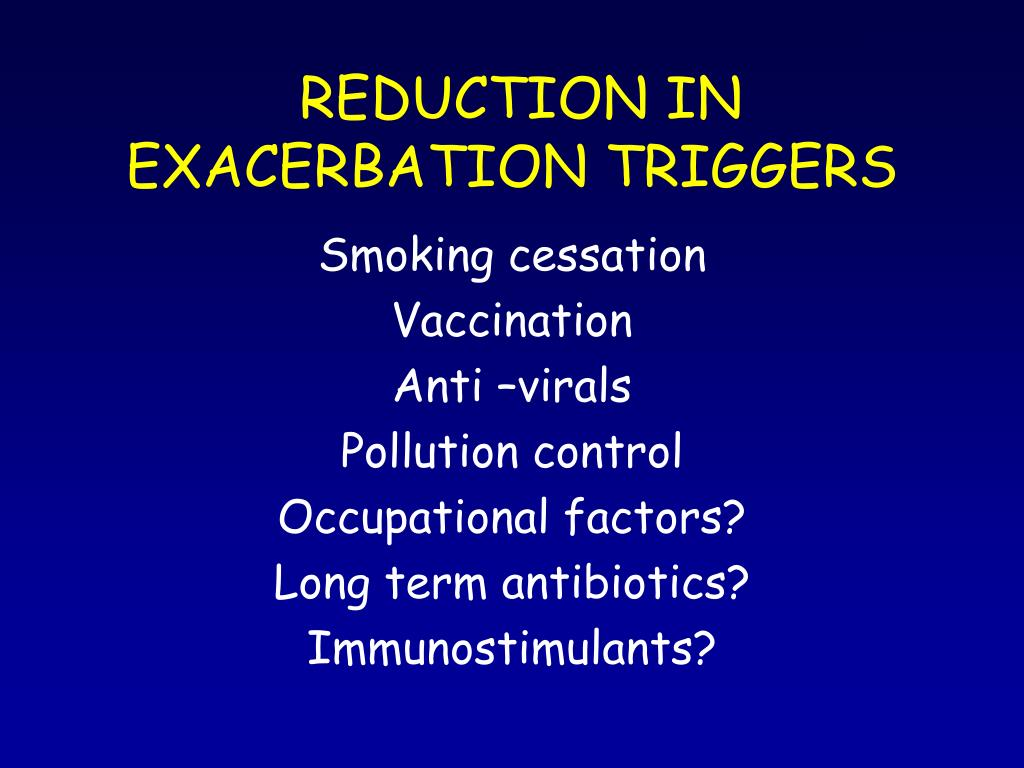 PPT - INTERVENTIONS IN COPD EXACERBATIONS: HOW DO THEY WORK