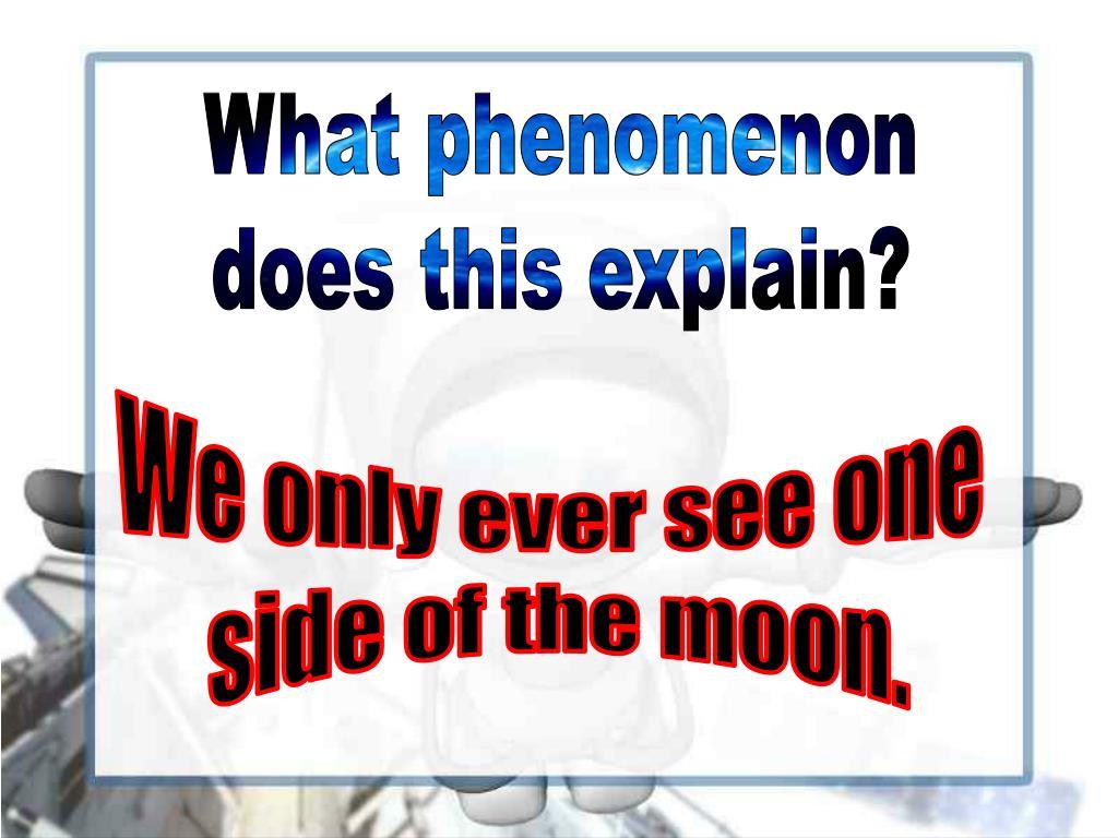 What phenomenon
