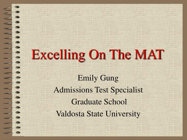 excelling on the mat n.