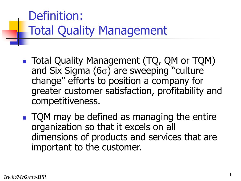 definition of quality and quality manag Definition of quality assurance (qa): often used interchangeably with quality control (qc), it is a wider concept that covers all policies and systematic activities.