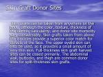 skin graft donor sites