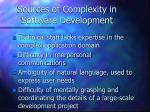 sources of complexity in software development