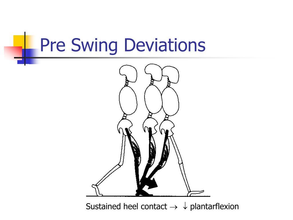 Pre Swing Deviations