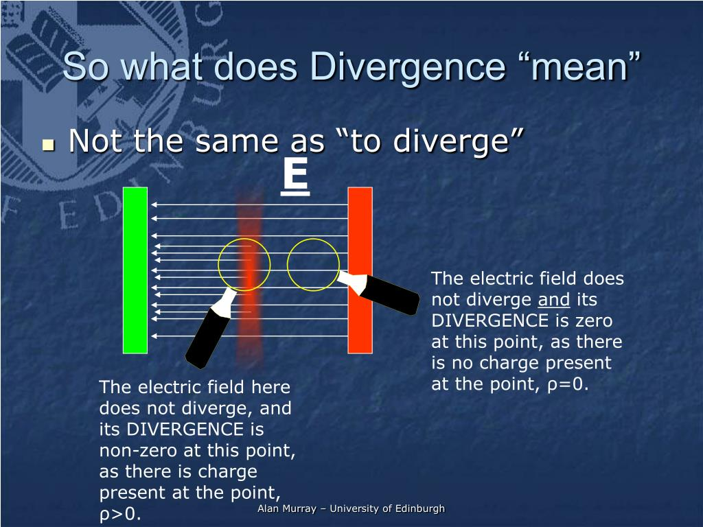 "Not the same as ""to diverge"""