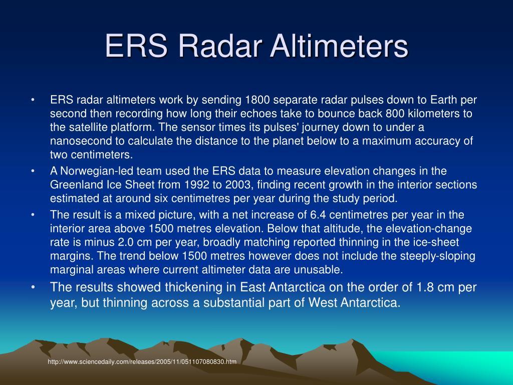 ERS Radar Altimeters