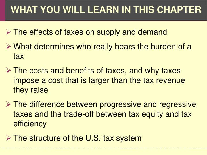 The effects of taxes on supply and demand