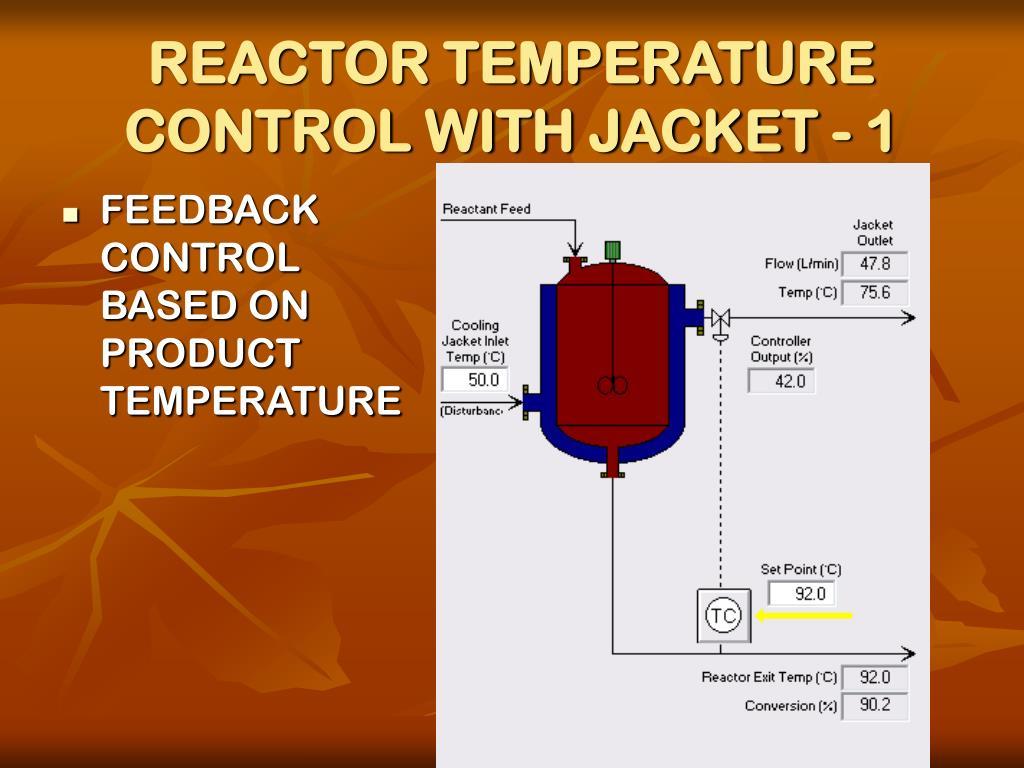 REACTOR TEMPERATURE CONTROL WITH JACKET - 1