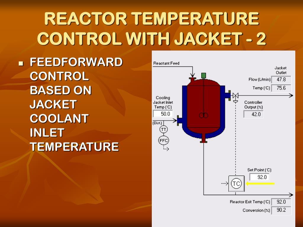 REACTOR TEMPERATURE CONTROL WITH JACKET - 2