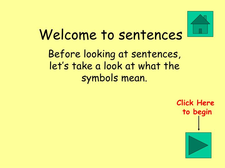 welcome to sentences n.