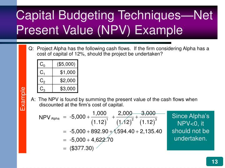 which capital budgeting technique defined returns in terms of income instead of cash flows All business entities in the us must file income tax returns and term assets are also non-cash cash flows if the capital budgeting project.