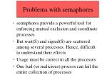 problems with semaphores
