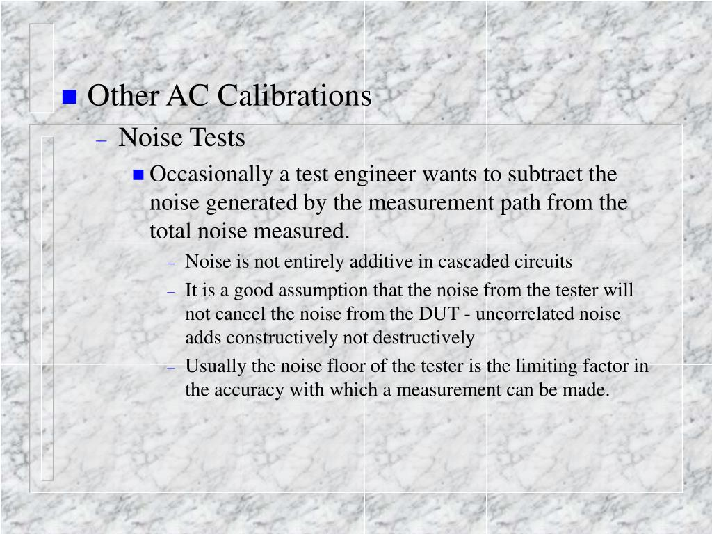 Other AC Calibrations