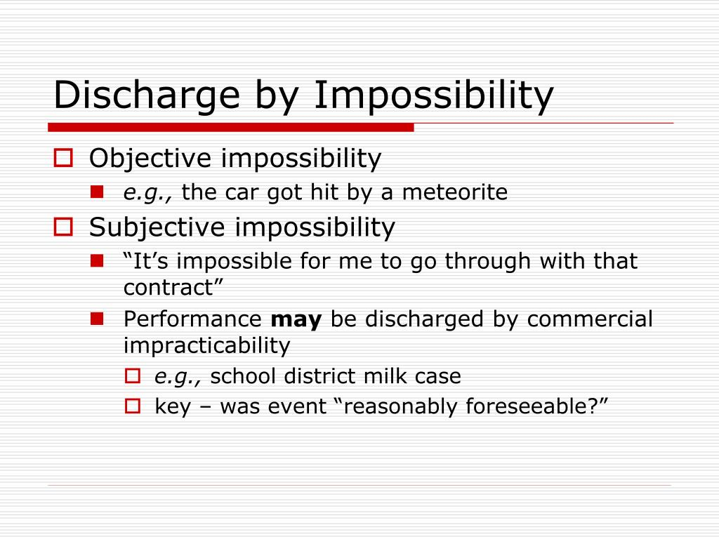 Discharge by Impossibility