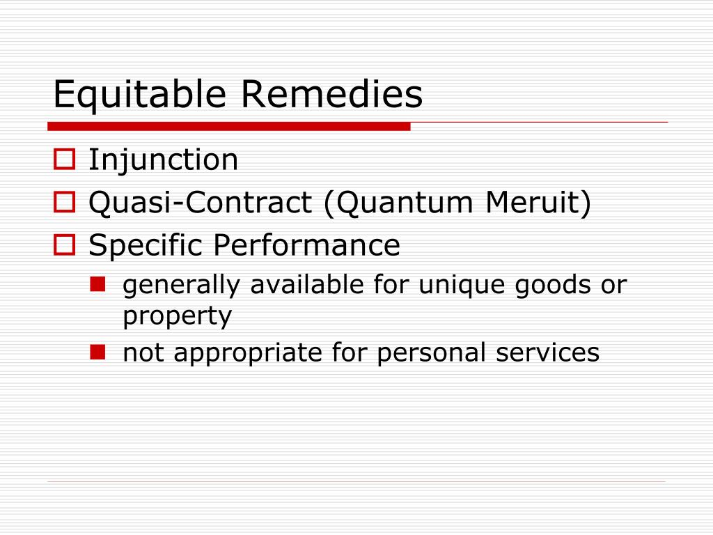 Equitable Remedies