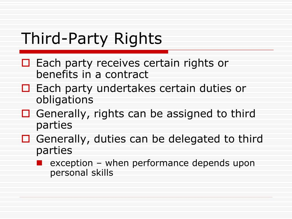 Third-Party Rights