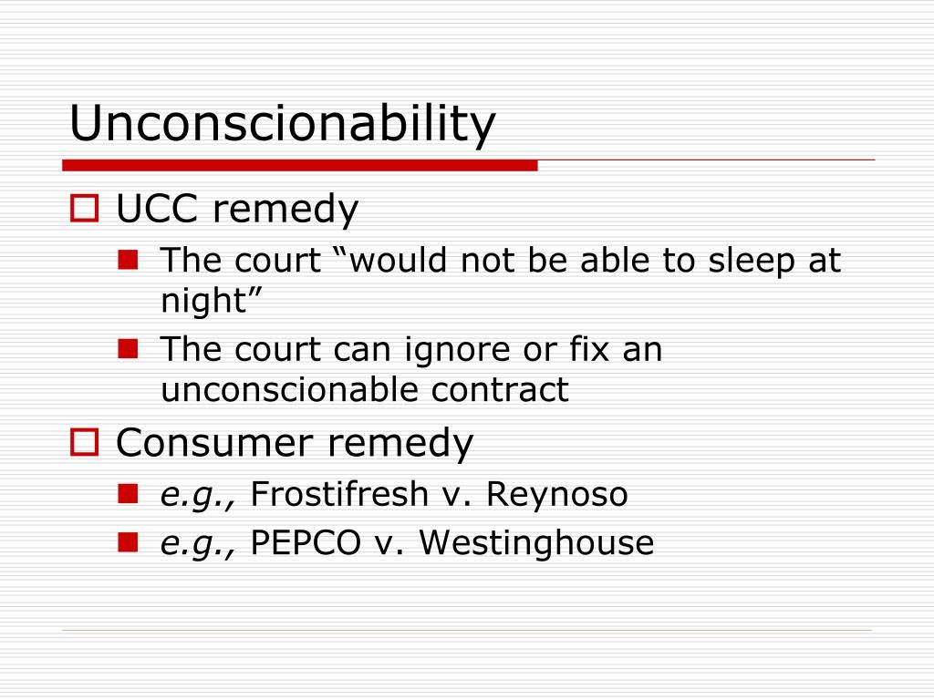 Unconscionability